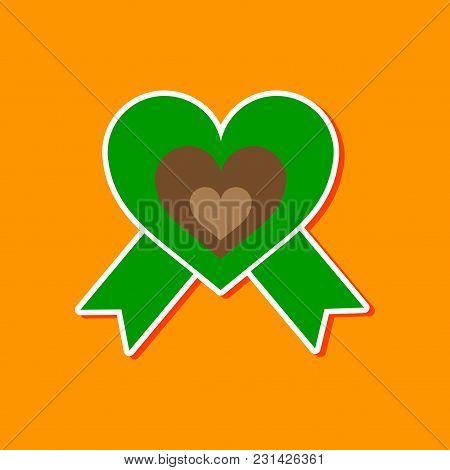 Paper Sticker On Stylish Background Gays Rainbow Heart