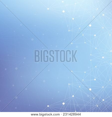 Graphic Abstract Background Communication. Big Data Visualization. Perspective Backdrop With Connect