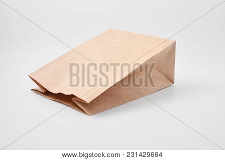 Paper Bag For Food Products. Fast Food Packaging