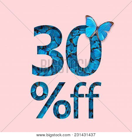 30% Discount Sale Promotion. The Concept Of Stylish Poster, Banner, Ads.