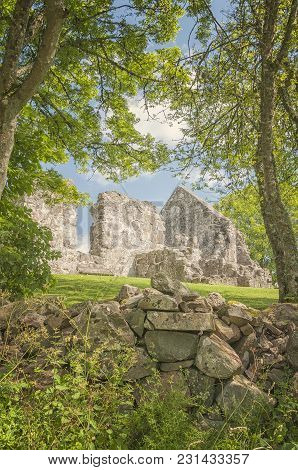 The Ruins Of The First Rya Church. It Was Completed In The Late 1100s. It Might By Built By Monks Fr