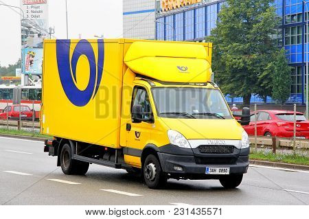 Brno, Czech Republic - July 22, 2014: Cargo Van Iveco Daily In The City Street.