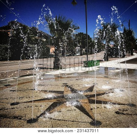 Street Fountain In The Privileged Area Of Sardinia