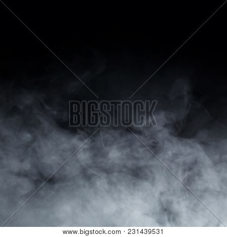 Abstract smoke texture over black background