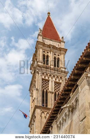 Cathedral Of St. Lawrence Is A Roman Catholic Basilica Constructed In Romanesque-gothic In Trogir, C