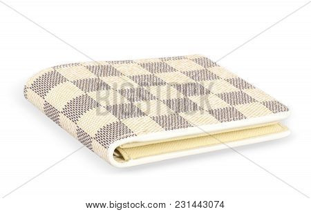 Beautiful And Pretty Check Design Patterns Wallet With Featuring Slip Pockets, Multiple Card Slots A