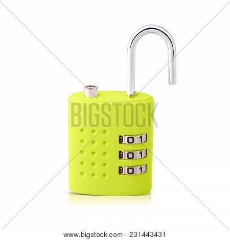 Keep Your Home And Office Safe With This 3 Digit Combination Lock Pattern And Beautiful Green Color