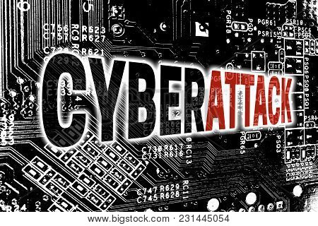 Cyberattack With Circuit Board Concept Background Picture