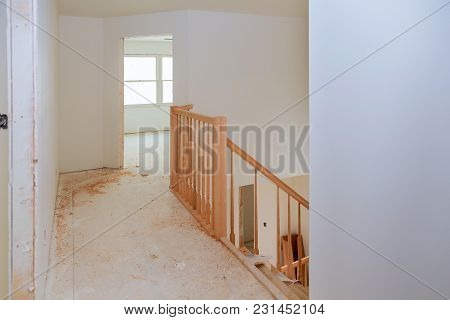 Stairs Renovtion. Handrails Renovation. Installation Of Wood Stairs Wizard For Wooden Railing For St