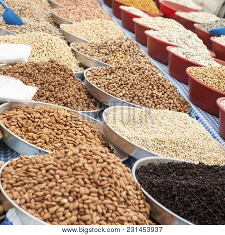 The Colors, The Aromas And The Atmosphere Of The Turgutris Market In Turkey