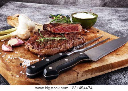 Barbecue Rib Eye Steak, Dry Aged Wagyu Entrecote Steak.