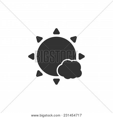 Weather Icon Sun With A Small Cloud Vector