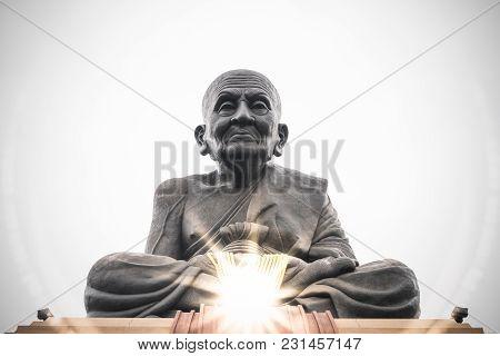Wat Huay Mongkol,hua Hin,prachuap Khiri Khan,thailand - February 5,2018:luang Pu Toad Buddha Statue,