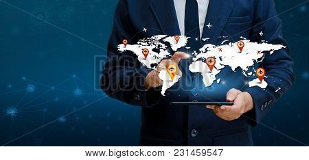 Smart Phones And Globe Connections Uncommon Communication World Internet Business People Press The P