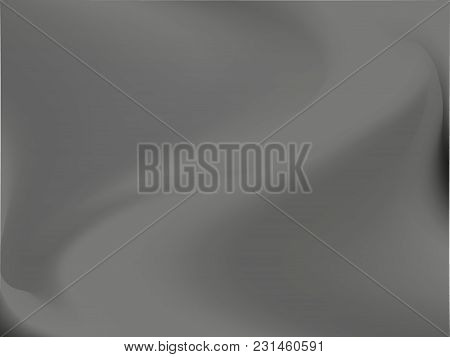 Abstract Black And White Smoke Blurred Background. Smooth Gradient Texture. Vector Illustration. Bac