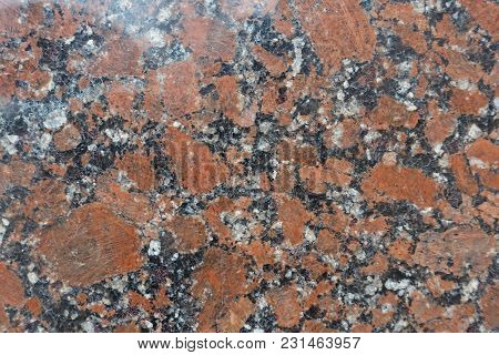Red, Black And White Polished Granite Stone