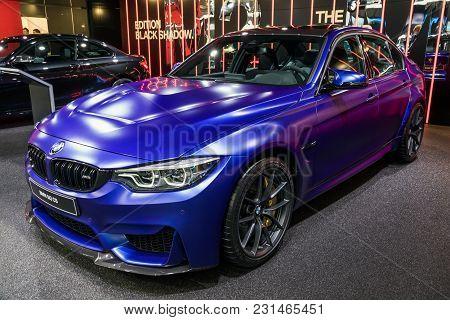 Geneva, Switzerland - March 7, 2018: Bmw M3 Cs Car Presented At The 88th Geneva International Motor