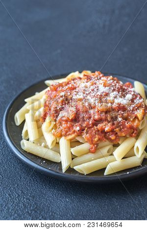 Portion Of Penne With Arrabbiata Sauce