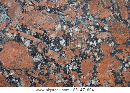 Coarse Grained Structure Of Pink Granite Stone