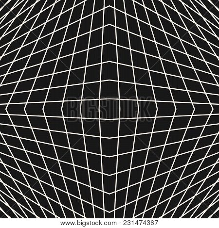 Vector Grid Seamless Pattern, Modern Subtle Background With Thin Geometric Lines, Square Shape, Latt