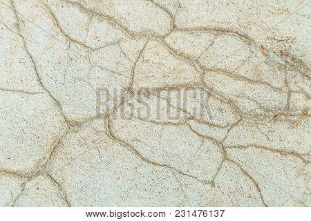 Surface Cracked Cement Concrete. Textural Background. Destruction Of A Structure.