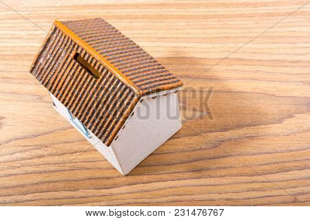 Little Model House  And On A Parquet Background