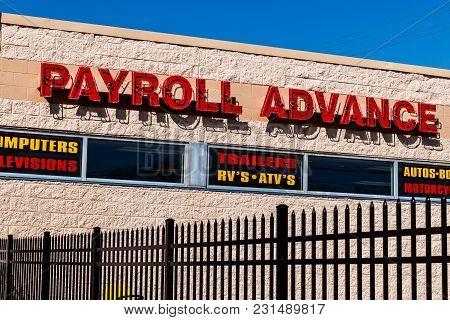 Kokomo - Circa March 2018: Local Pawn Shop And Payroll Advance Location Ii