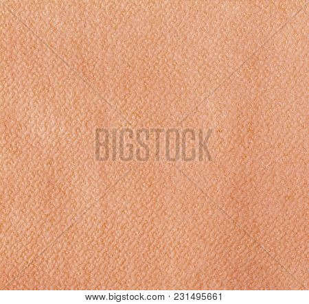 Blank Red  Paper Napkin Isolated On White Background With Copy Space