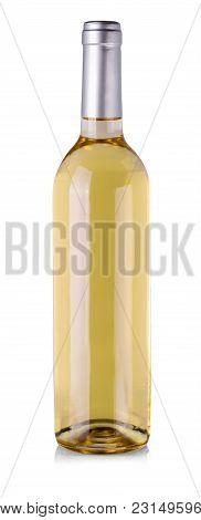 White Wine Bottle Isolated On White Background