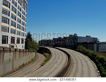 Belltown Seattle Overpass, From Battery Street Bridge
