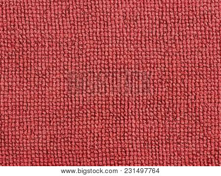 Red Fabric Texture Background. Abstract Background, Empty Template.