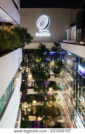 Bangkok Thailand - March 7 2018: Aerial Shot Of The Emporium And Emquartier Department Store In Bang