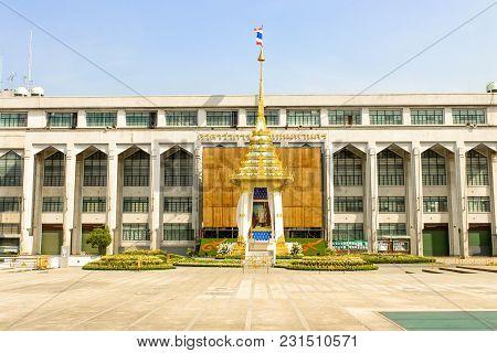 Bangkok, Thailand - Nov 04,2017 -view Of The Royal Crematorium Replica At Bangkok Metropolitan Admin