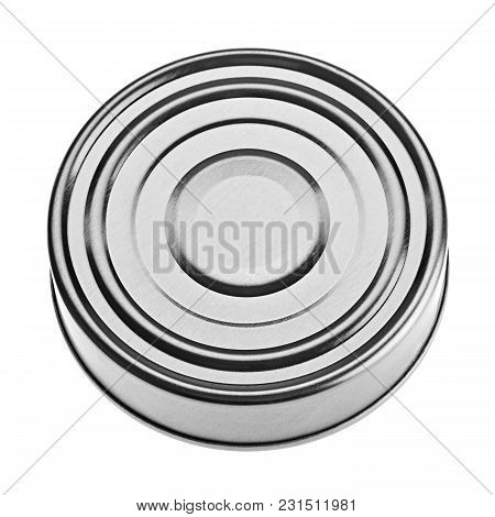 Silver Metal Can For Preserve Isolated On White