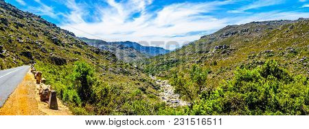 The Narrow And Scenic Bainskloof Pass Through The Witte River Or Witrivier Canyon Between The Towns