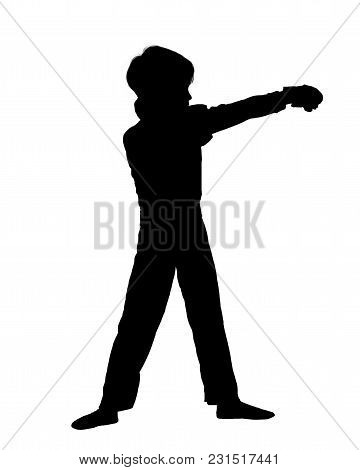 Silhouette Of Little Fighter