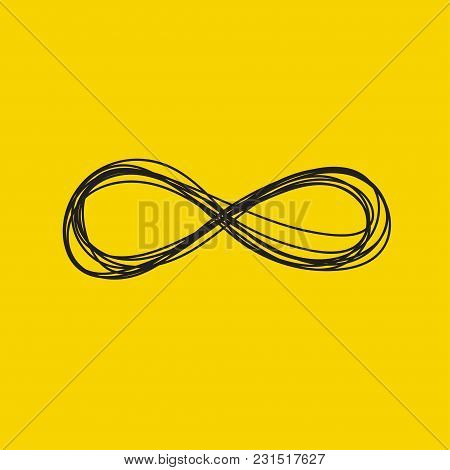 Hand Drawn Infinity Sign Isolated. Vector Illustration