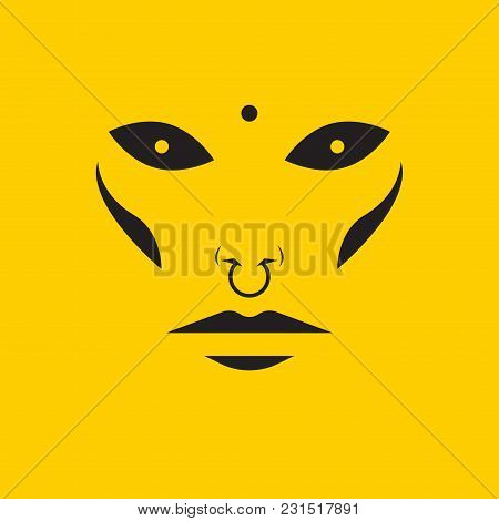 Print Alternative Fashion. Pierced Face. Vector Illustration