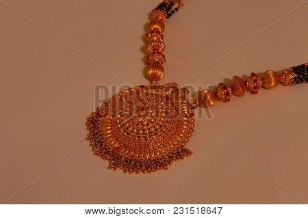 Close View Of Traditional Gold Mangalsutra, Pune