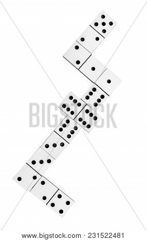 Domino Game On White Background. Top View.