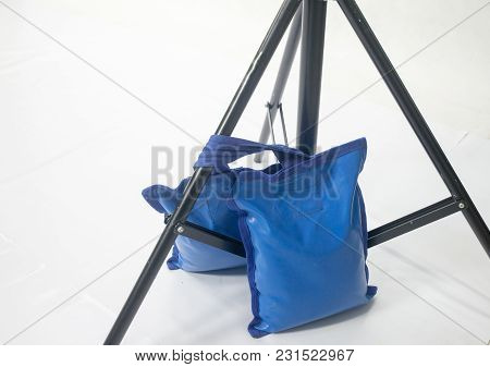 Sand Bags For Studio Light Stand On White Background