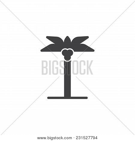 Palm Tree Vector Icon. Filled Flat Sign For Mobile Concept And Web Design. Coco Palm Simple Solid Ic