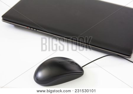 Close Up Computer Mouse On White Background