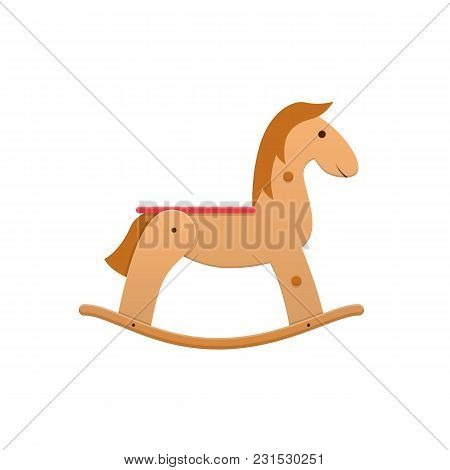 Modern Wooden Colorful Children S Toy Cartoon Horse Rocking. Sports, Entertaining Kids Toy. Horse Ri