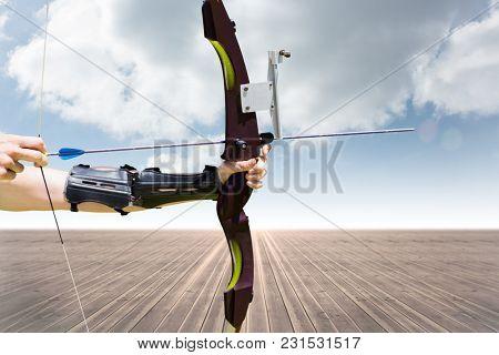 Digital composite of archer