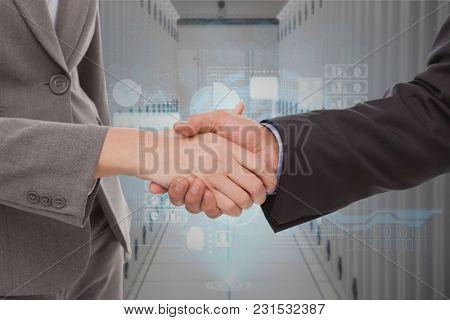 Digital composite of Handshake technology