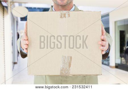 Digital composite of delivery torso