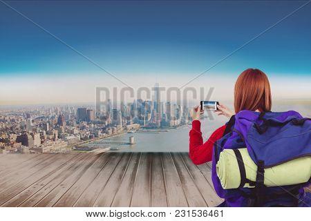 Digital composite of travel torso3