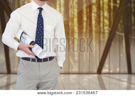 Digital composite of architect torso 17