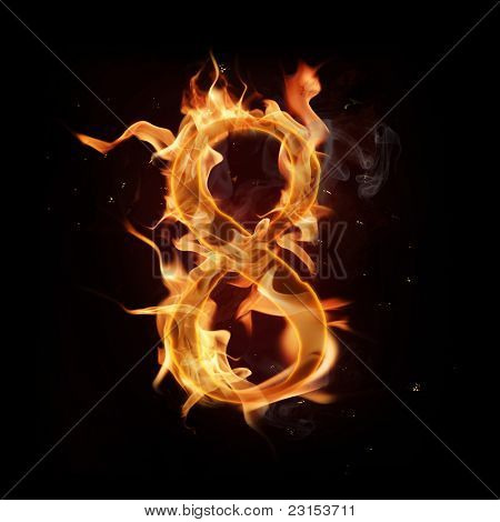 Fire number eight poster